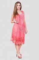 Нежно розовое летнее платье