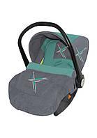 Автомобильное кресло для ребенка LIFESAVER Grey&Green Lorelli