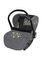 Автомобильное кресло для ребенка LIFESAVER Grey&Black Circles