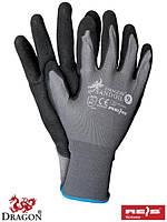 Перчатки защитные изготовленные из нейлона, покрытые нитрилом черного цвета SANDOIL SB