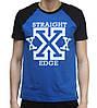 Футболка Ястребь Straight Edge черно-синяя S