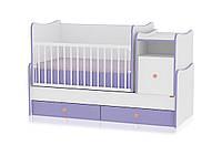 TREND PLUS ALL White&Purple кровать детская