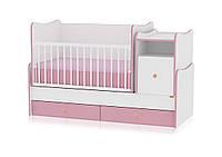 TREND PLUS ALL White&Pink кровать детская