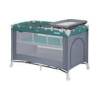 PENNY 2 Layers GRAY&GREEN манеж - кровать