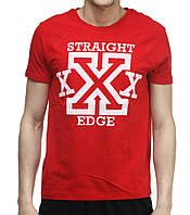 Футболка Ястребь Straight Edge красная S