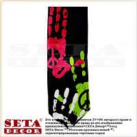 Стильный молодёжный галстук Peace узкий 5,5 см.