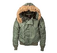 Зимняя укороченая куртка парка N-2B Alpha Industries (оливковая), фото 1