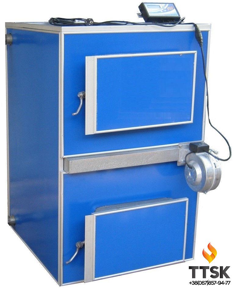 Котел із газифікацією деревини (піролізний котел)APSS 90 Потужністю 90 квт