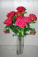 Искусственный букет из крупных роз № 406