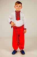 Красивые красные детские шаровары.
