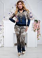Брендовый турецкий велюровый костюм Ronay «Пальма»  42-44 размер, 2 цвета