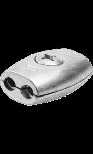 Зажим для троса бочкообразный 6 мм