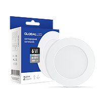 Светильник точечный светодиодный GLOBAL LED SPN 6W яркий свет (1-SPN-004-C)