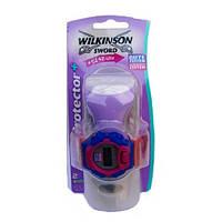 Wilkinson Sword lady protector Бритвенный станок женский + часы наручные Lady protector