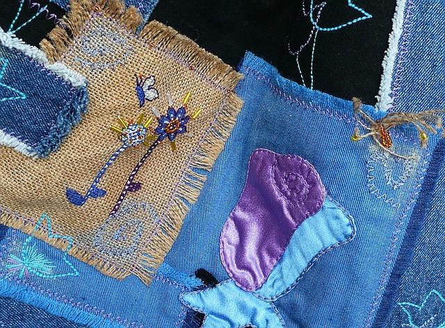 шитьё-сумка из джинсов.