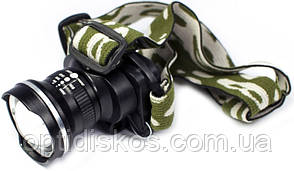Фонарь налобный с фокусировкой (встроенный аккумулятор), BL-6807, фото 2