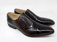 Лаковые туфли в коричневом цвете
