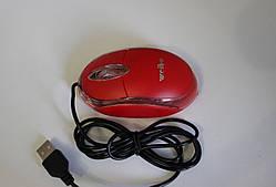 Мышки weibo оптическая прозрачный корпус, провод - 0.5 м красный