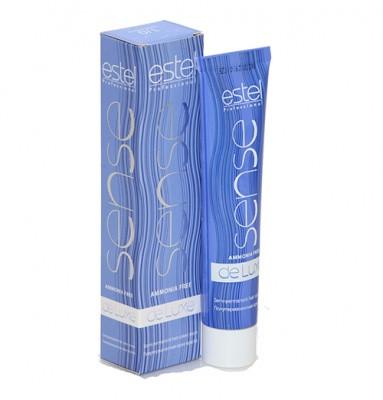 7/74 - Коричнево-мідний русий Estel De Luxe SENSE - Тонуюча фарба для волосся 60 мл.