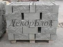 Блок декоративный 400х200х150  для забора