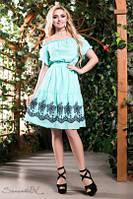 Романтическое  платье  соткрытыми плечами ,доставка по Украине