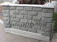 Блок декоративный 400х200х120  Гранит,  для забора