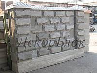 Блок декоративный 400х200х120  Скала, для забора, фото 1