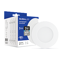 Светильник точечный светодиодный GLOBAL LED SPN 3W яркий свет (3шт. в уп) (3-SPN-002-C)