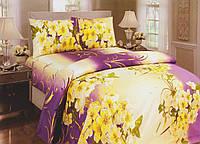 Комплект постельного белья бязь Gold Желтые цветы