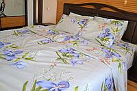 Комплект постельного белья бязь Gold васильки цветы