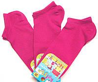 Детские носки малиновые короткие