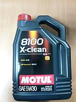 Синтетическое моторное масло MOTUL 8100 X-clean 5W-30 5л. ― производства Франции