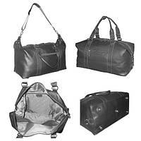 Дорожная большая кожаная сумка  , фото 1