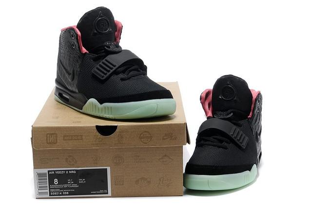 b16b56da Описание Кроссовки в стиле Nike Air Yeezy 2 Black Rose Green женские