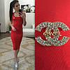 Платье-майка с брошью, фото 6