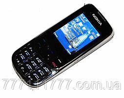 """Мобильный телефон Nokia 6303 (S322i) black черный (2 SIM) 2,2"""" 1,3 Мп FM, MP3! Гарантия!"""