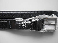 """Ремень подростковый с шпеньком чёрный (кож.зам. 30 мм.) """"Remen"""" LM-638"""