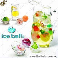"Формочки для льда - ""Ice Balls"" - 4 шт."