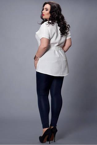 Летняя молочная блуза с поясом  , фото 2