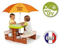 Детский столик для пикника с зонтиком Smoby Winnie Poh 310466