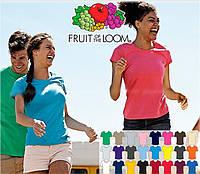 Футболка жіноча Fruit of the Loom 20 кольорів!