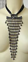 Ожерелье колье модное стильное массивное подвеска металл ювелирная бижутерия 6456