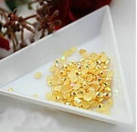 Стразы клеевые акриловые Gold AB, 4мм. Цена за 100 шт