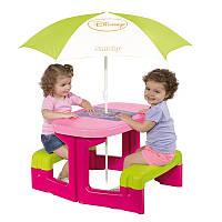 Детский столик для пикника с зонтиком Smoby 310274 «Минни»