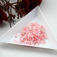 Стразы клеевые акриловые Rose AB, 4мм. Цена за 100 шт, фото 1