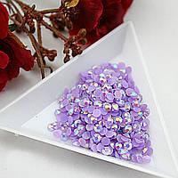 Стразы клеевые акриловые Violet AB, 4мм. Цена за 100 шт