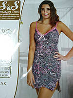Вискозная ночнушка Pink Secret Размер М, фото 1