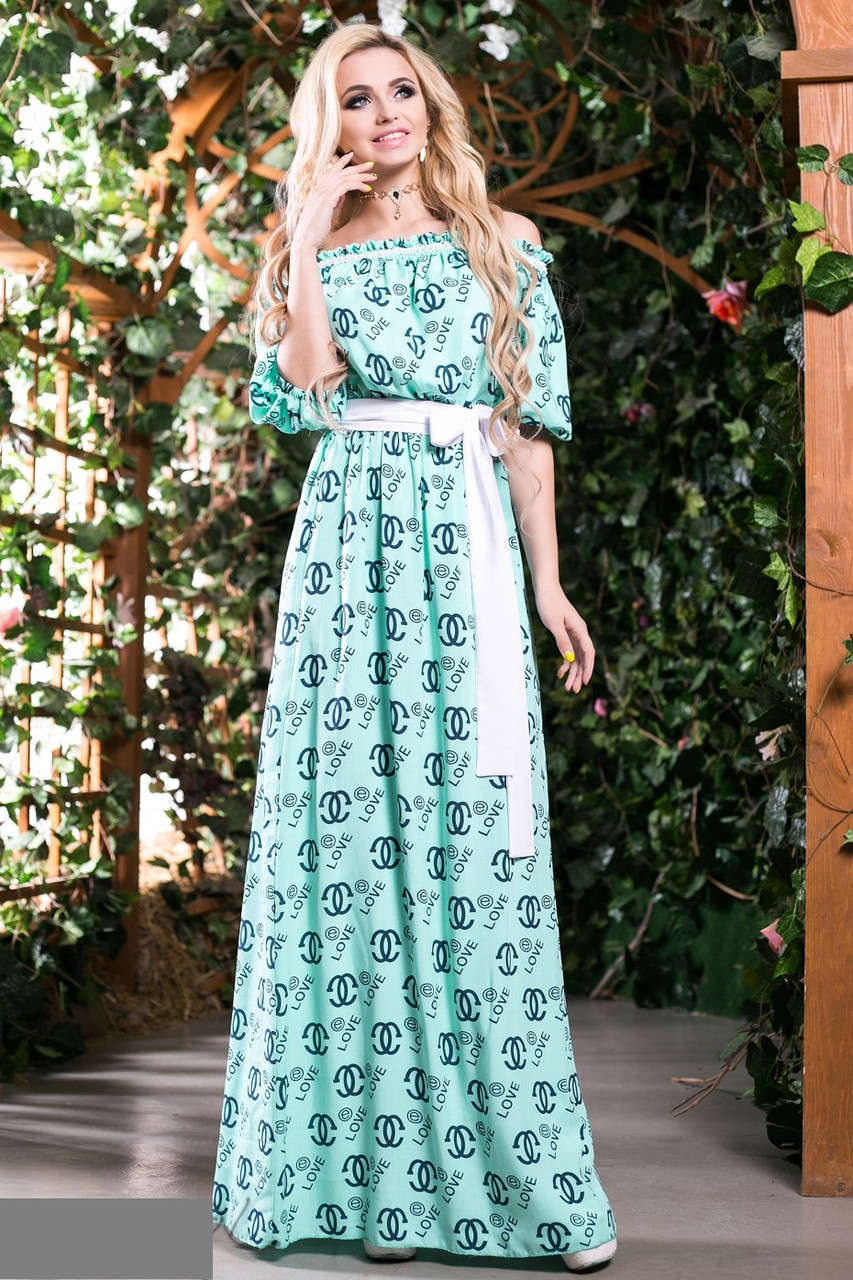 Платье длинное легкое фото