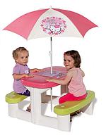 Детский столик для пикника с зонтиком Smoby 310256 «Hello Kitty»