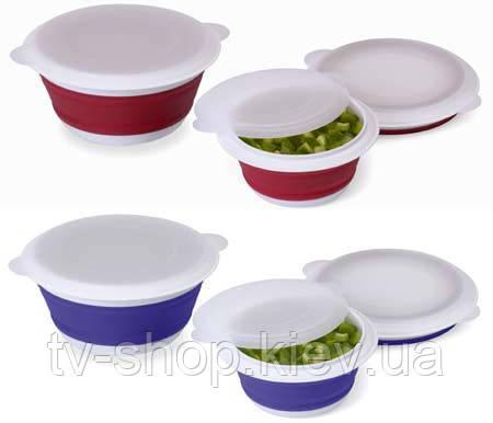 Складные силиконовые контейнеры 3 шт Collapsible Bowl